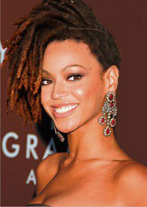 6b686f11ed4 Locs were achieved by parting hair into sections
